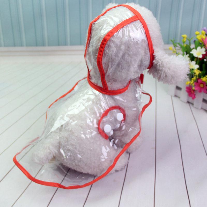 Snailhouse Waterproof Transparent Raincoats Puppy Dog Raincoat Portable Dog Rain Coats Foldable Light Clothes Puppy Rain Jacket