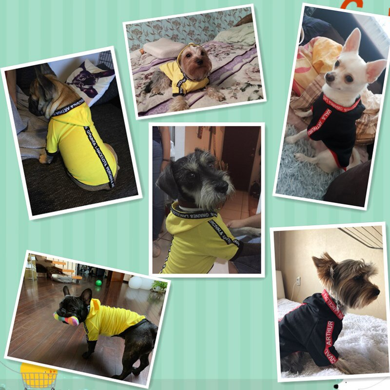Fashion Dog Clothes Spring Pets Dogs Clothing For Small Medium Dogs Costume Leisure Dog Hoodie Chihuahua Puppy Outfit Ropa Perro