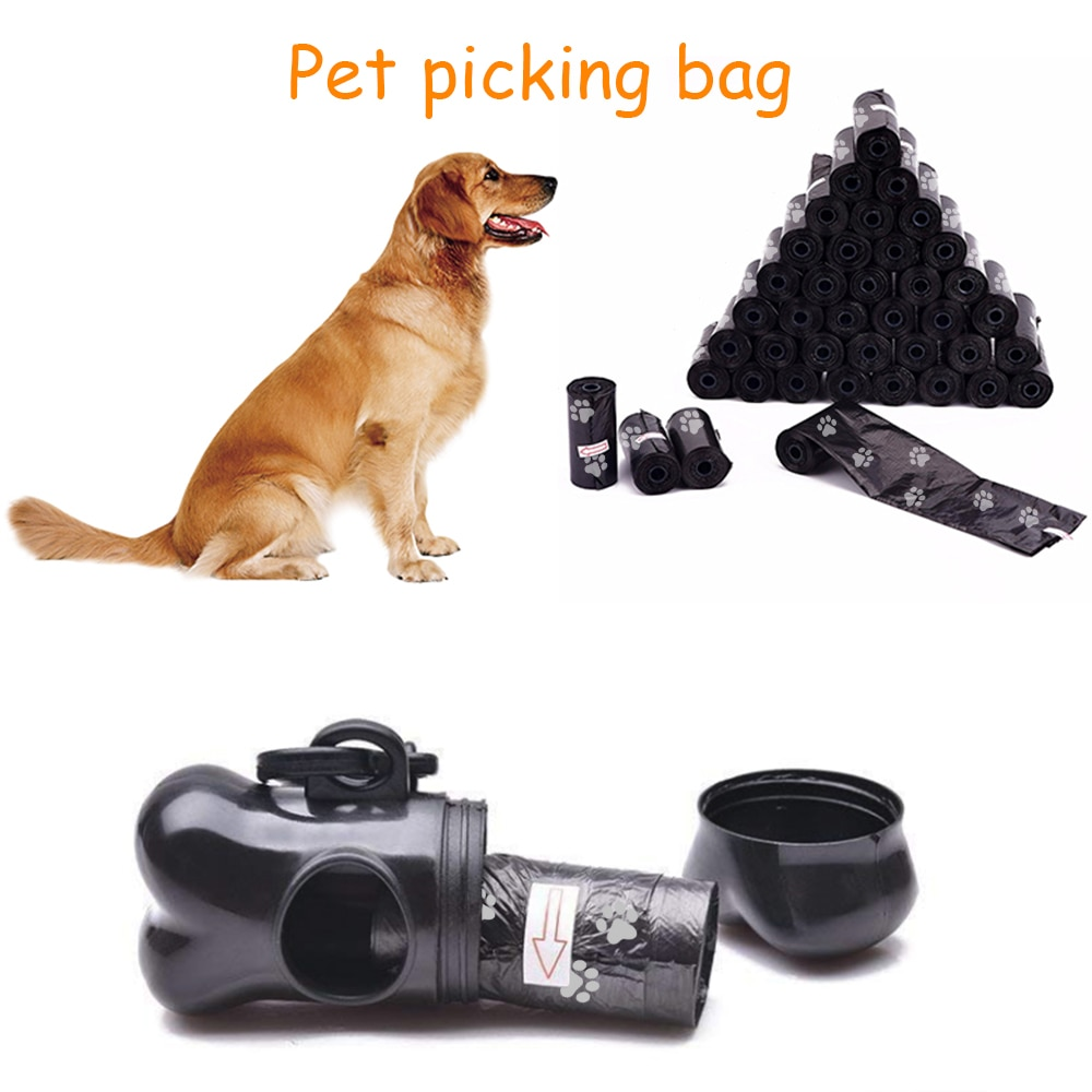 50 Rolls Dog Poop Bag Pet Waste Pick Up Plastic Garbage Bags Thick Convenient Outside Toilet Clean Waste Trash Bag For Cats Dogs