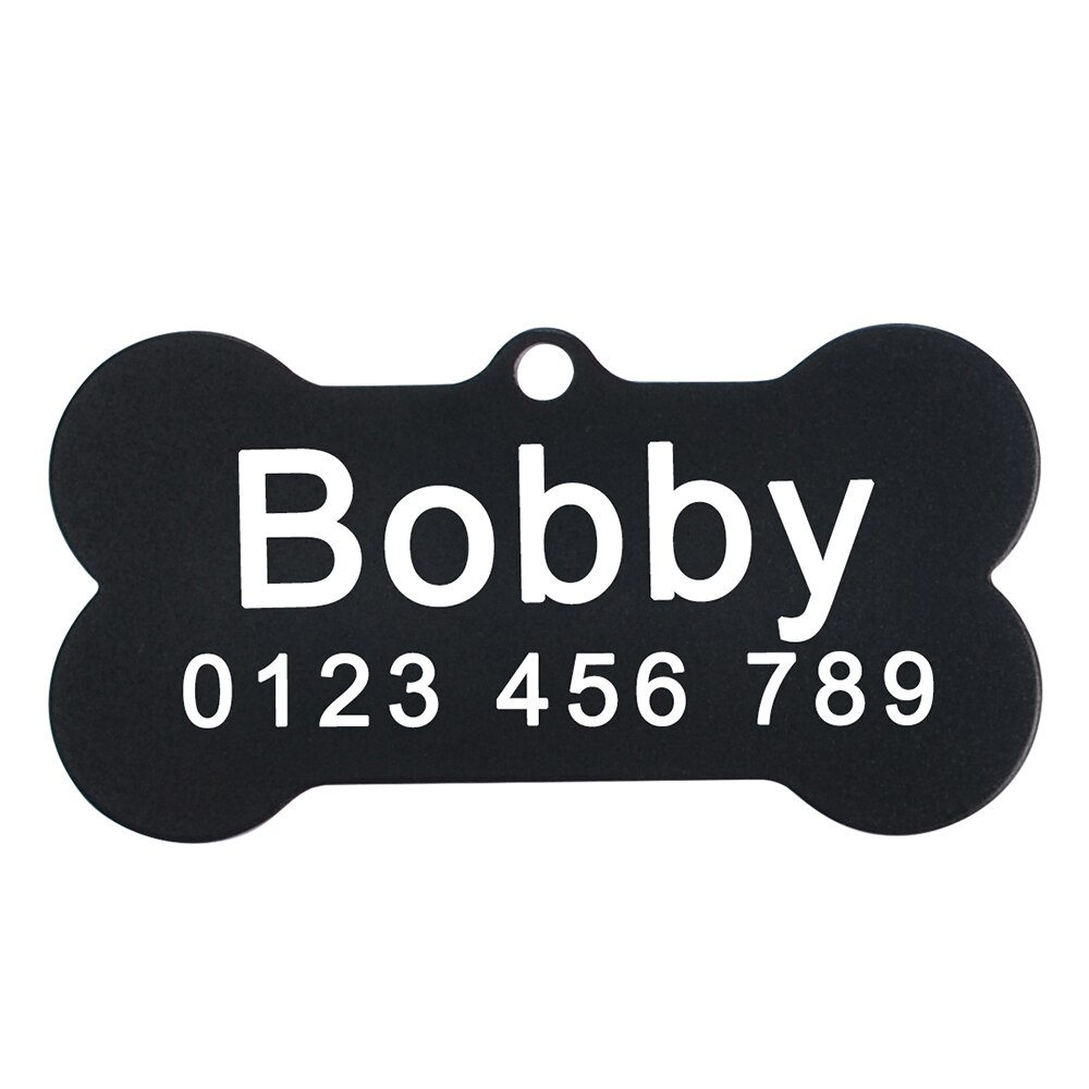 Dog Cat Id Tags DIY Personalized Dogs Id Tag Stainless Steel Tag Engraving Name and Telphone Number and Pet Supplies