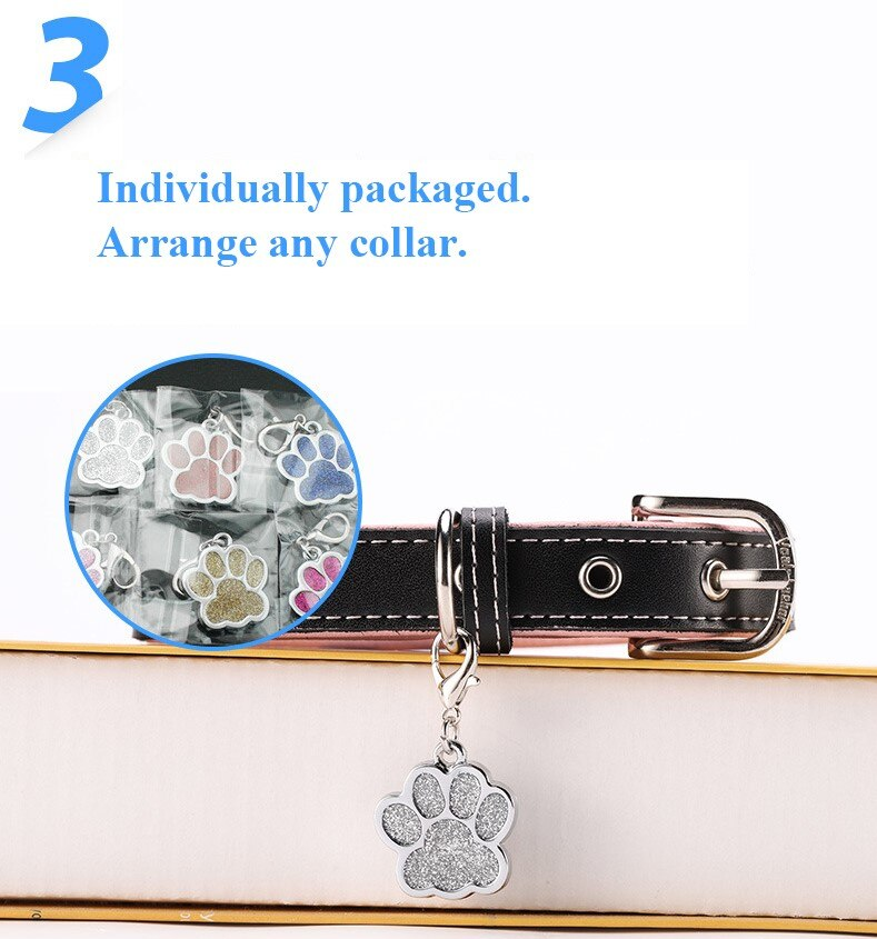 Custom Pet Identification Tag Alloy Pet Identification Tag Cat Dog Collar Accessories Dog Tag Anti Loss Engraved Phone Name Tag