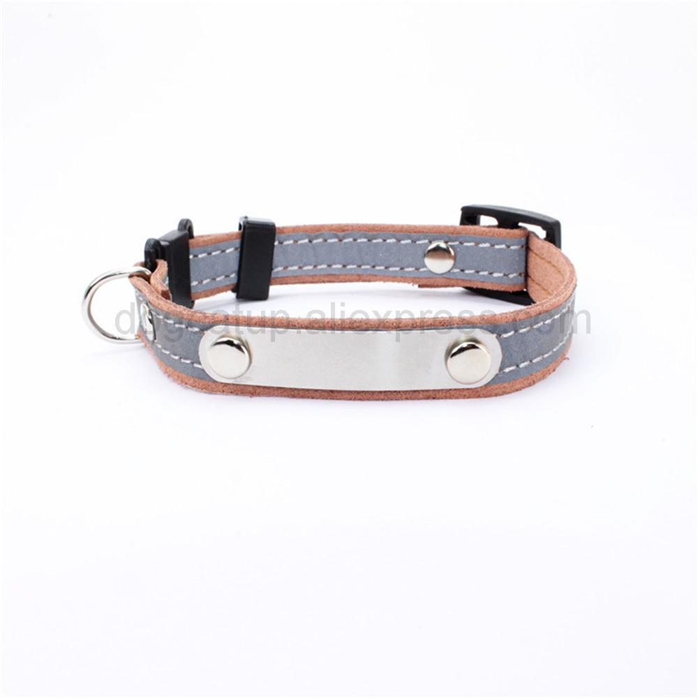 Personalized Cat Lettering Collar Reflective Pet Collars With Engraved Name Phone Number ID Tag For Small Dogs Kitty Neckband