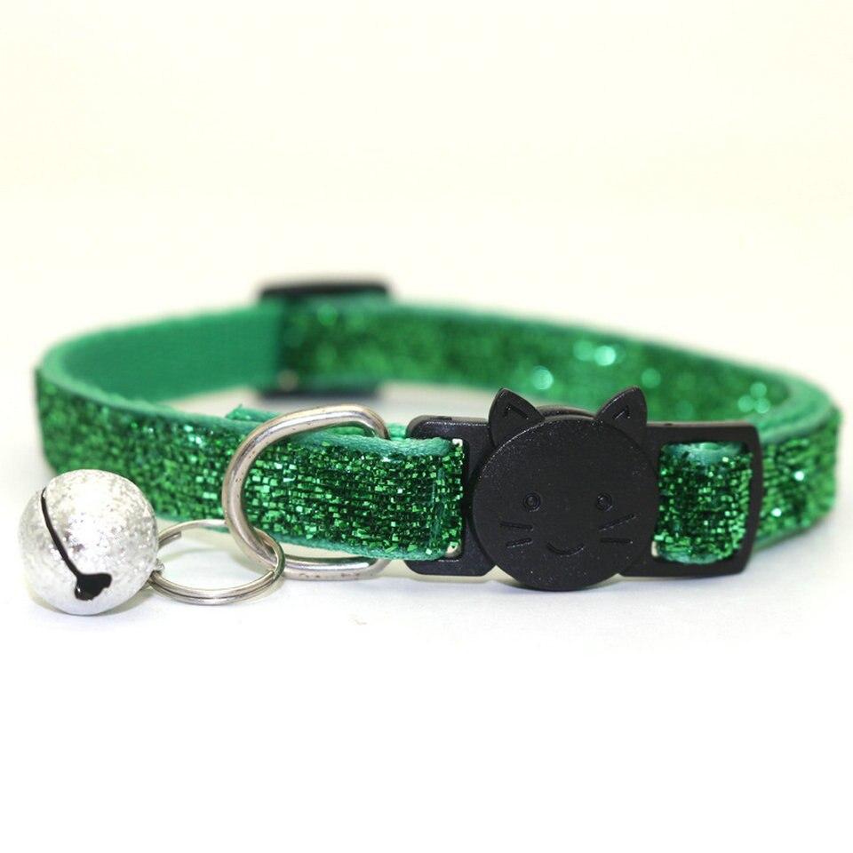 Pet Cat Collar With Bell Breakaway Fashion Adjustable Kitten Cat Sequin Collar Neck Strap Cat Accessories Pet Supplies