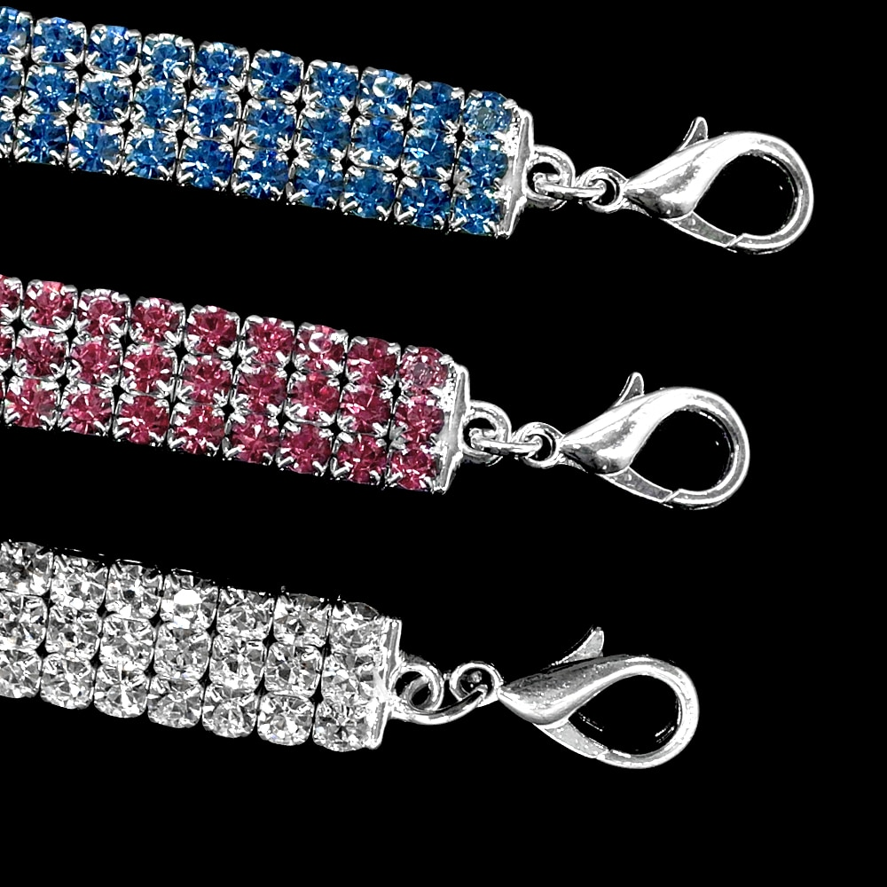 Bling Dog Collar for Small Dogs Cat Necklace Rhinestone Diamante Pet Puppy Collar Cat Collar Pet Supplies Dog Accessories