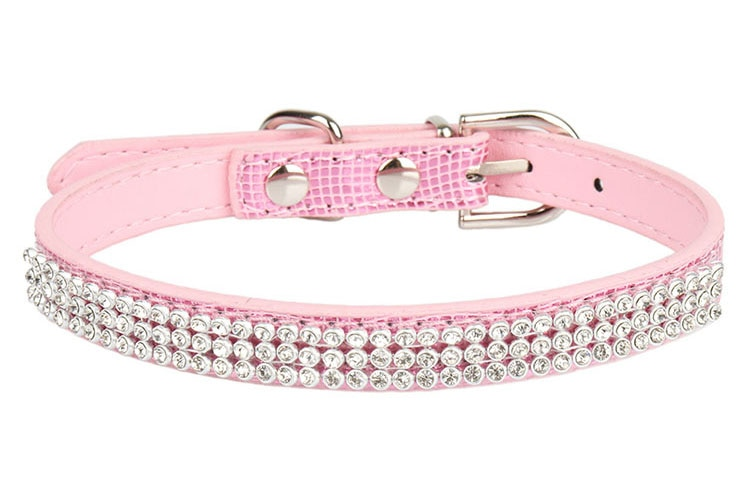 PipiFren Pink Small Cats Collars Breakaway Necklace Kitten Rhinestone For Leash Pet Dogs Collar Accessories collier chat kedi
