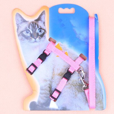 1PC Cat Dog Leash and Adjustable Collar Harness Nylon Pet Traction Cat Kitten Halter Cats Products for Cat Puppy Small Dogs