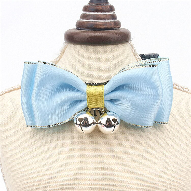 Traumdeutung Small Cats Collars Bow Kitten Puppy Necklace For Pets Collar Dogs Cat Accessories Product collier pour chat kedi