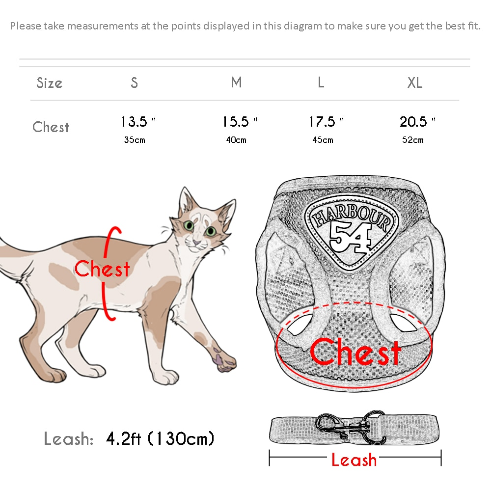 Cat Harness Nylon  Mesh Pet Harness for Small Dogs Cat Puppy Collar Pug Chihuahua Harnesses Leash Leads Set Pet Supplies