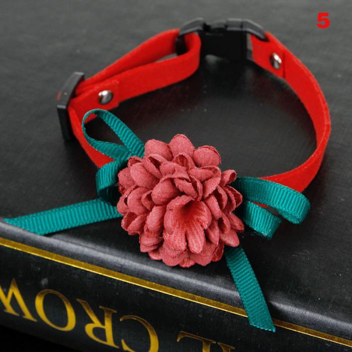 Dog Collar Pet Cat Puppy Flowers Decoration Collar Necklace Adjustable Collars Best Price