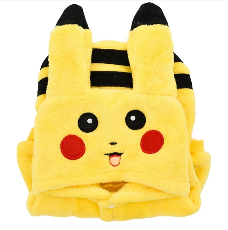 SUPREPET Cat Costume Cute Pet Clothes Pikachu Cosplay Clothes Autumn Winter  Cat clothes Home Pajamas Puppy Hoodie Dog Coat