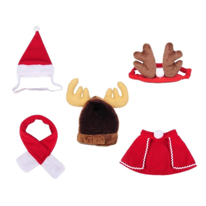 Christmas Cat Clothes Small Dogs Cats Santa Costume Kitten Puppy Outfit Hoodie Warm Winter Pet Dog Clothes Clothing Accessories