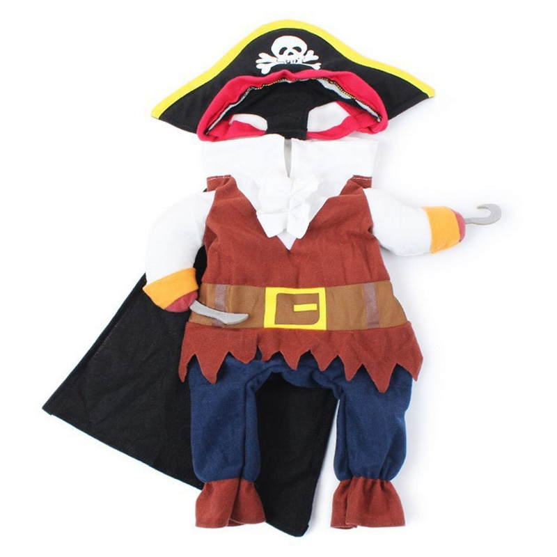 Funny Cat Costumes Pirate Suit Cat Clothes Kitty Kitten Corsair Halloween Costume Puppy Suits Dressing Up Party Clothes For Cats