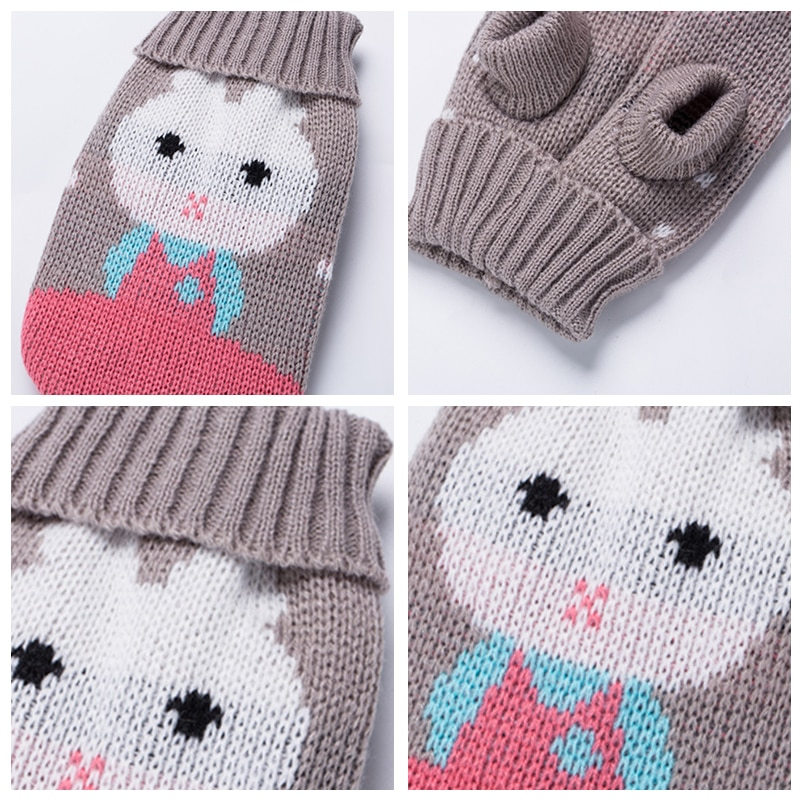 Cute Cat Sweater Costume Winter Warm Pet Clothes Cat Clothing for Cats Katten Kedi Giyim Mascotas Gato Pets Products for Animals