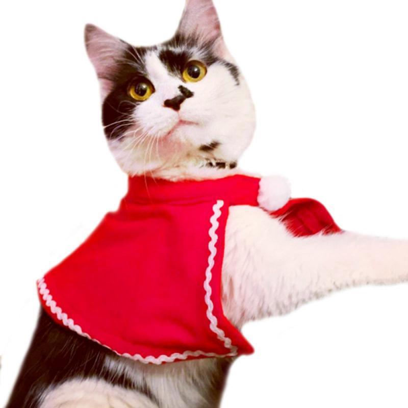 Christmas Cat Clothes For Cats Costume New Year Outfit Pet Cat Clothes For Chihuahua Winter Warm Pet Clothes Pet Products