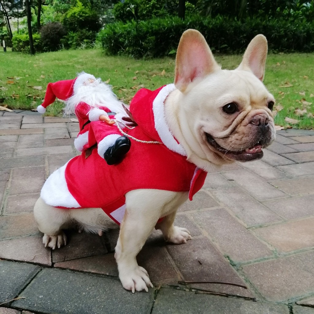 Santa Claus Style Pet Dog Christmas Coat Cat Dog Clothing Cute Clothes For Pet Products Dogs Pets Clothing Chihuahua Navidad#30