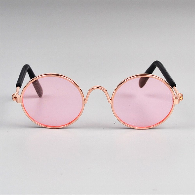 2020 New Doll Toy Cool Sunglasses For American toy Baby toy Pet Photo Prop Pet Glasses Doll Sunglasses Pet Cat Eye Protection