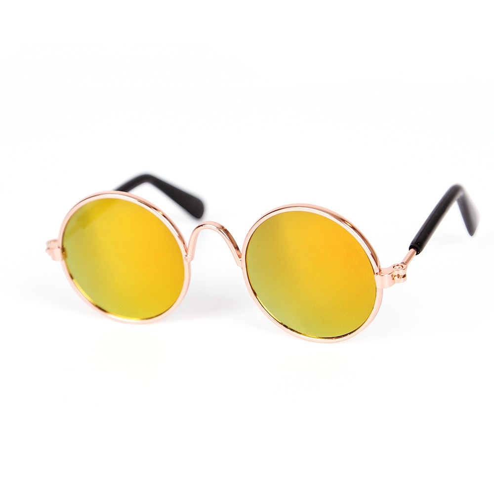 Pet Products Lovely Vintage Round Cat Sunglasses Reflection Eye wear glasses For Small Dog Cat Pet Photos Props Accessories