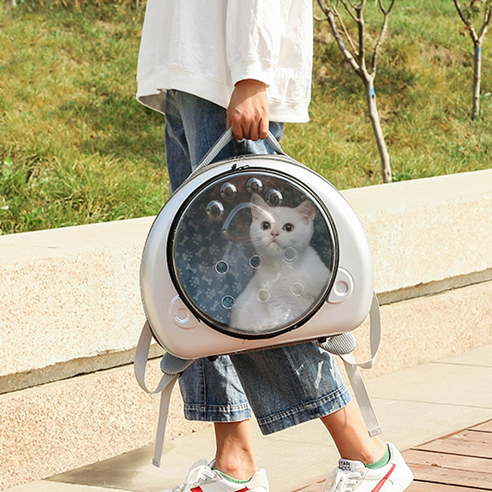 Cat Backpack Carrier Bag Breathable Transparent Puppy Cat Bag Cats Box Cage Small Dog Pet Travel Bag Handbag for Chihuahua