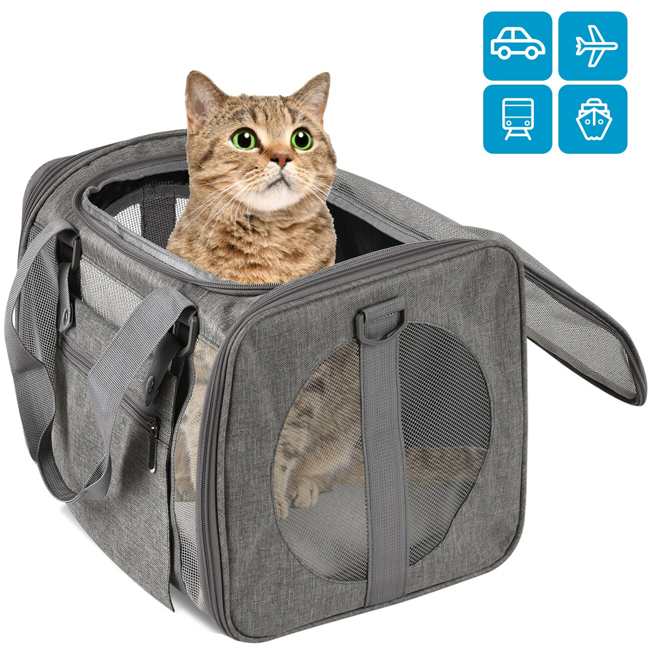 Dog Carrier Travel Car Seat Bags Pet Carriers Portable Backpack Breathable Cat Cage Small Dog Travel Bag Airplane Approved