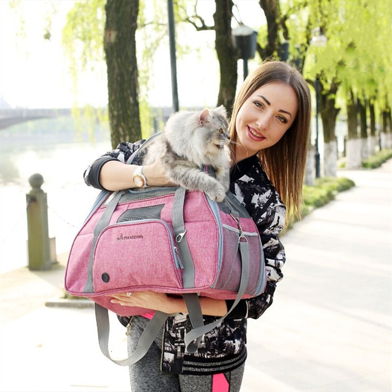 Dog Carrier Travel Car Seat Pet Carriers Portable Backpack Breathable Cat Cage Breathable Small Dog Travel Bag Airplane Approved