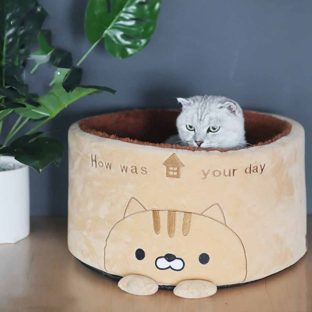 Pet Puppy Dog Cat Calming Bed Warm Comfy Nest Sleeping Kennel Cage Cushion Round cat litter kennel dropshipping New Arrival#30