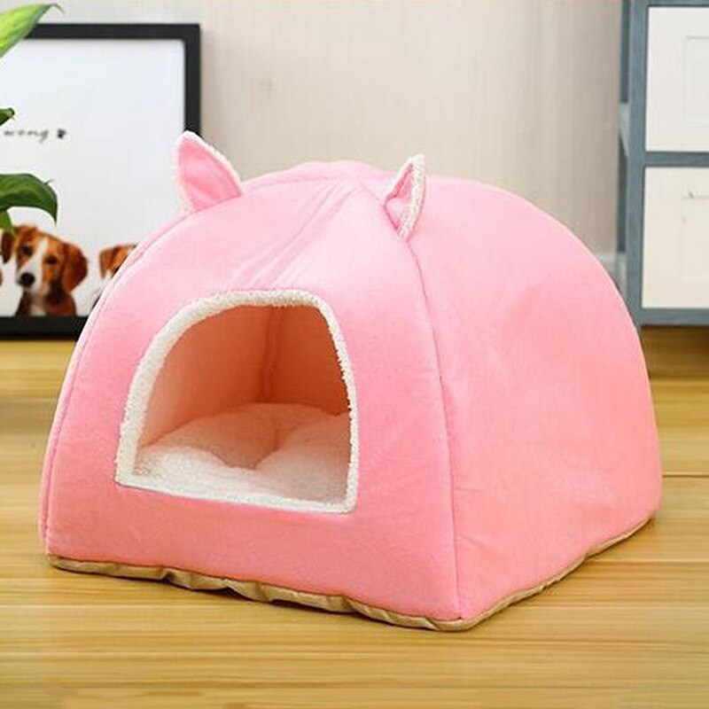 New 2019 Dog Cage Breathable Dog Kennel Cartoon Shaped House for Puppy Cat Warm Dog House Comfort Puppy Nest Pet Supplies