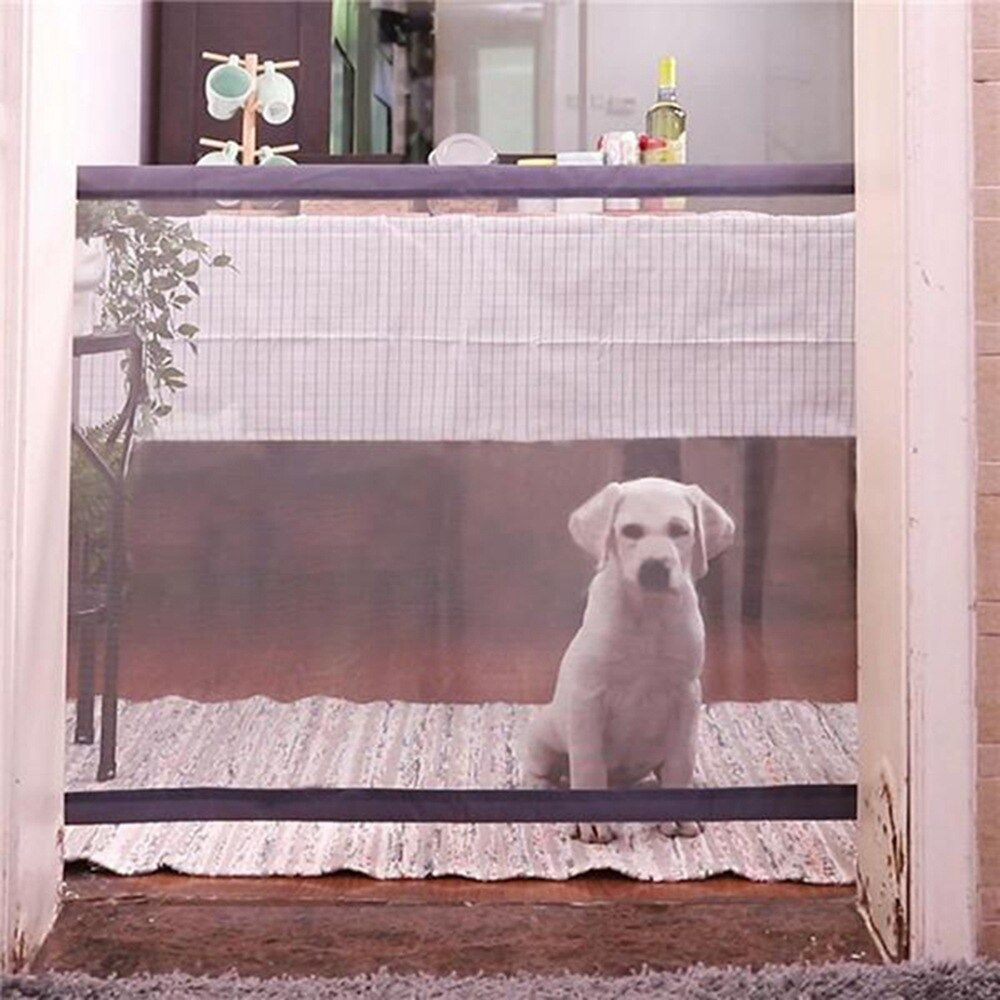 Dog Cage Fence Folding Dog Gate Playpen for Dogs Mesh Pet Baby Cage Fence for Dogs Accessories Crate Cat Dog Kennel Home Gate