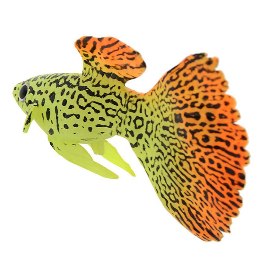 Creative  Aquarium Decoration 1PC Plastic Swimming Faux Fake Gold Fish Aquarium Fish Tank Decor Orname Gift 25