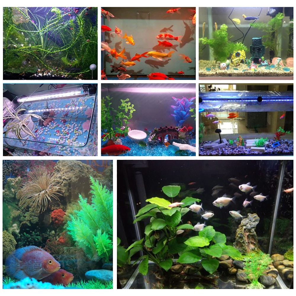 Gako Aquarium Light RGB LED Bar Light Waterproof Light Underwater Aquario Lamp for Fish Tank Coral Reef Decor Lighting