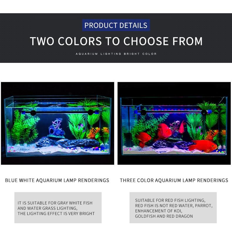Aquarium Light LED Waterproof Fish Tank Light Underwater Fish Lamp Aquariums Decor Lighting Plant Lamp 19-49CM EU Power