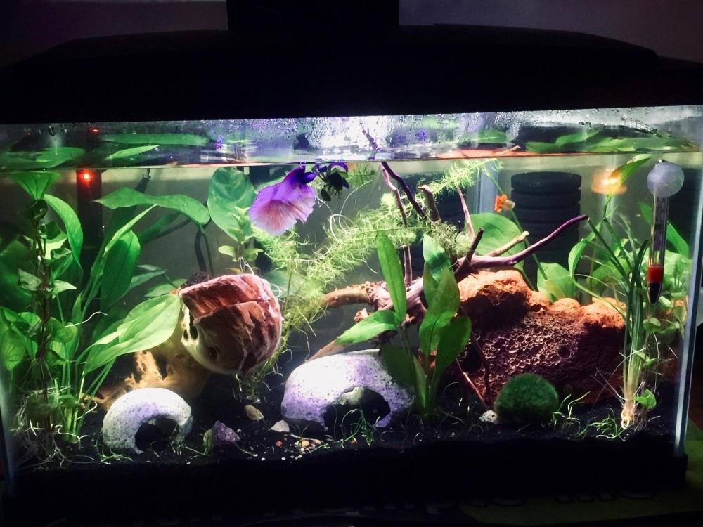 24-54CM Aquarium Light Fish Tank Submersible Light Lamp  Waterproof Underwater LED Lights Aquarium Lighting