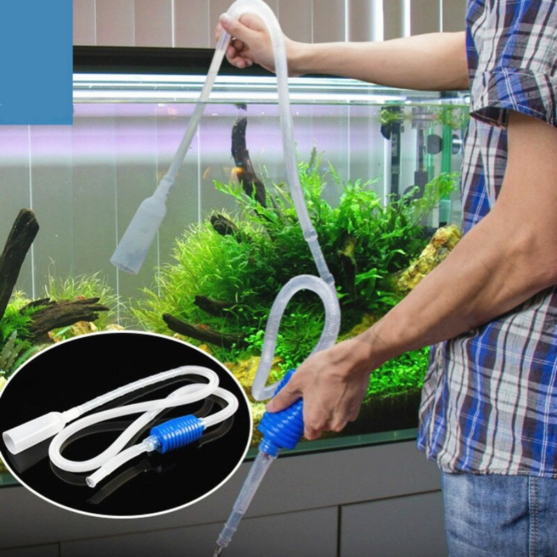 Aquarium Fish Tank Vacuum Gravel Water Exchange Filter Cleaner Siphon Suction Pipe Filter  Pump Manual Cleaner Pump Safe Vacuum