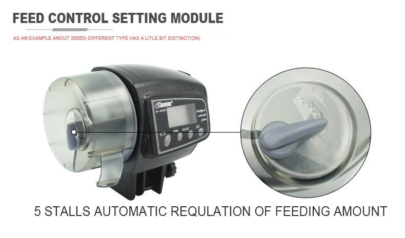Adjustable Automatic Fish Feeder for Aquarium Fish Tank Digital LCD Auto Feeders with Timer Pet Feeding