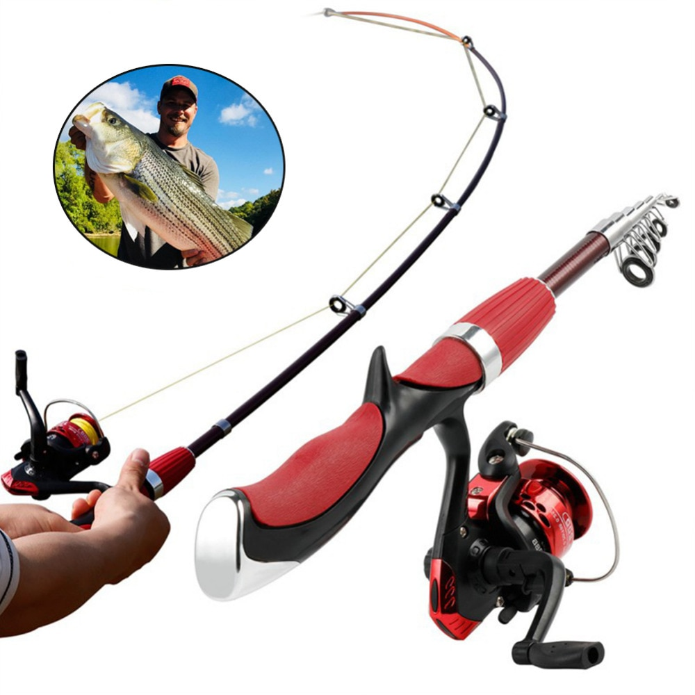Hot Sale Fishing Rod and Reel Set Casting Fishing Rods Carbon  Ultra Light Rod with Mini Spinning Reels Fishing Tackle Set