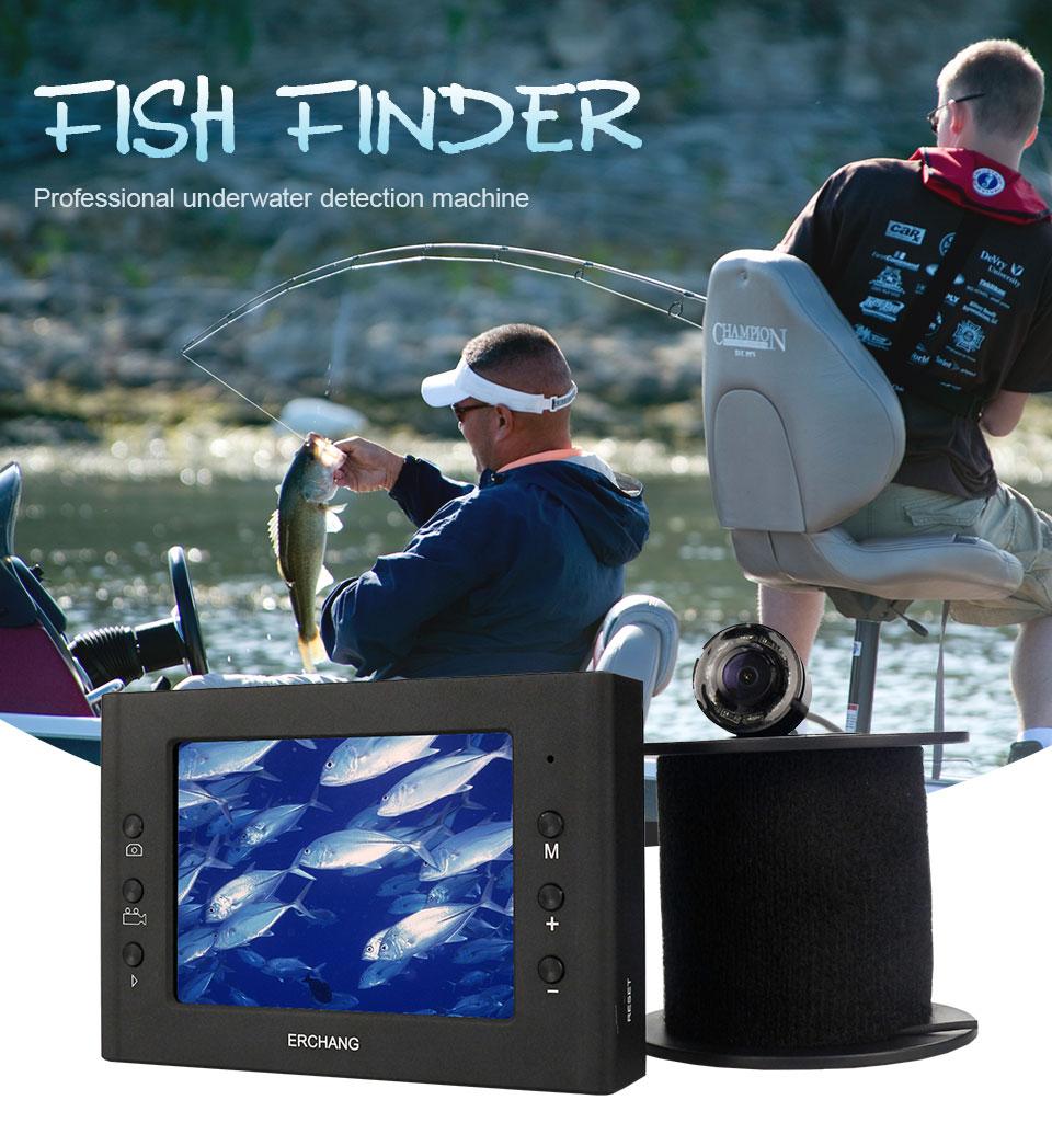 Erchang Fish Finder Underwater Ice Video Fishfinder Metal Fishing Camera IR Night Vision 3.5 inch Monitor camera kit HD 1000TVL