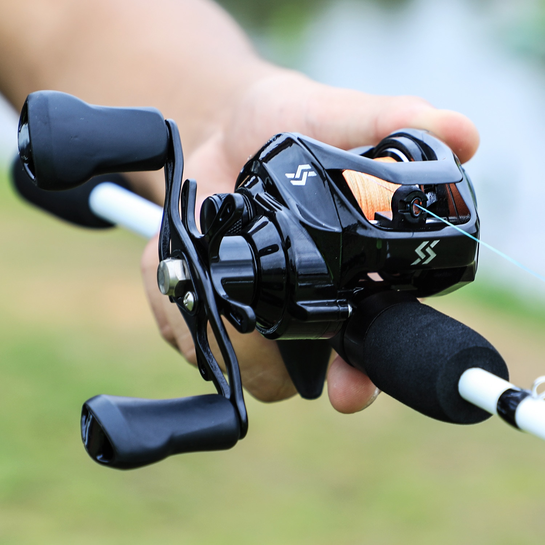 Sougayilang 1.75m Fishing Rod Combo 3 Section Carbon Casting Fishing Rod with 12+1BB Baitcasting Reel Fishing Tackle Kit Pesca