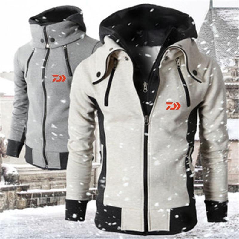 Dawa Daiwa Winter Special Rushed Fleece Warm Fishing Jacket  Men Wear Men's Clothes Fishing Clothing Mens Sports Fishing Hoodie