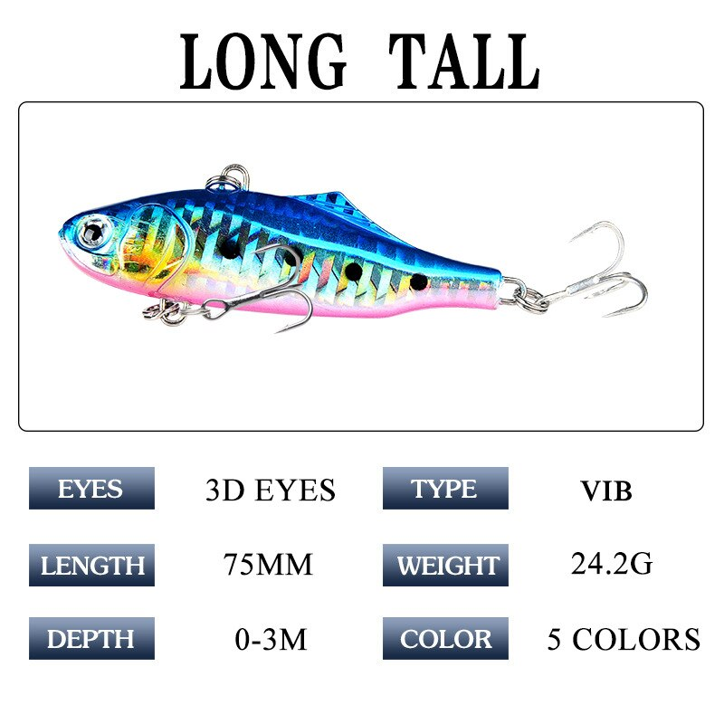 Classic VIB Freshwater Seawater Sardines 7.5cm / 24g Hard Bait Fishing Bait Boxed Japanese Fishing Gear