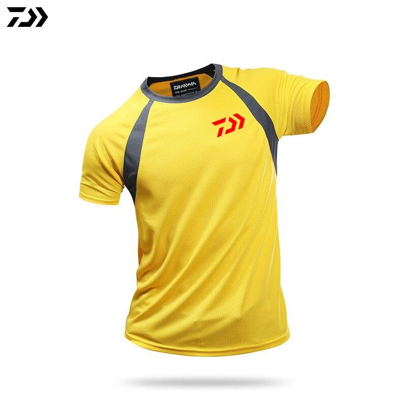 DAIWA Clothing Fishing Clothes Summer Short Sleeve Quick Drying Sunscreen Breathable Tshirt Anti-UV Ultrathin DAWA Fishing Shirt