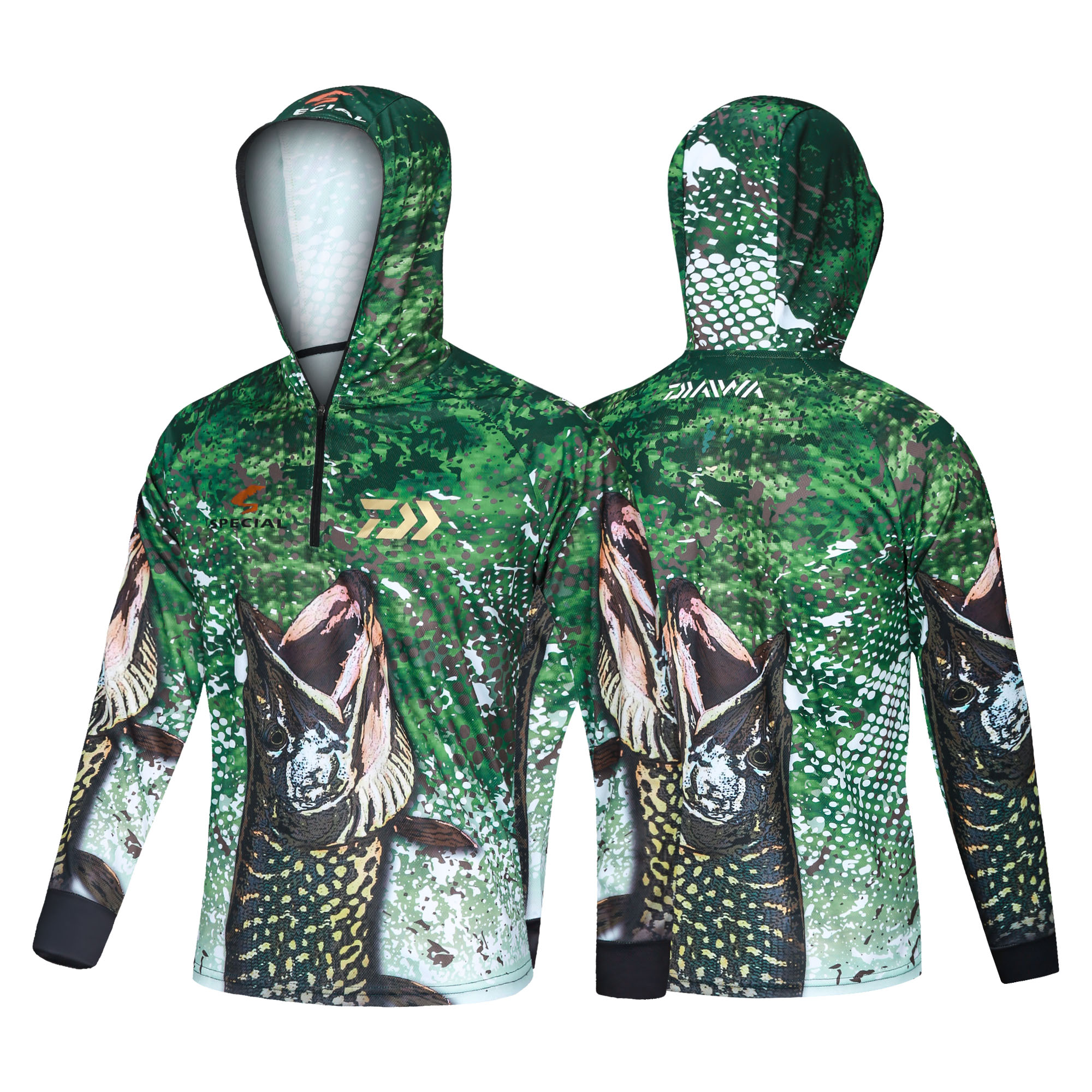 2020 New DAIWA Fishing Clothing Camouflage Fishing Clothes Sunscreen Breathable Anti Mosquito Quick Dry DAWA Fishing Shirt