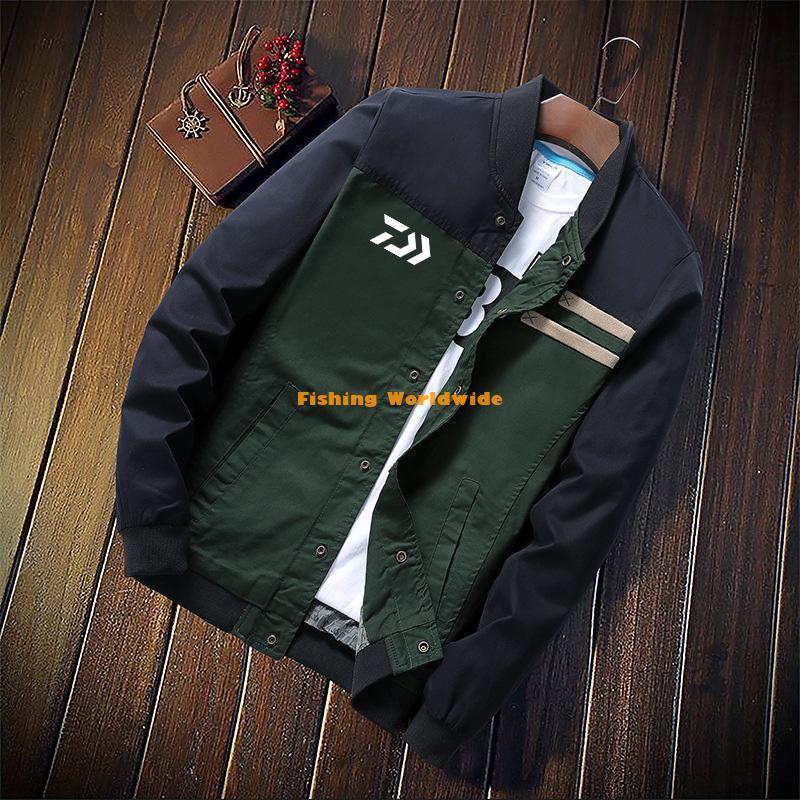 New Men Summer Autumn DAIWA Fishing Jacket Outdoor Sport Striped Breathable Fishing Clothing Plus Size Thin DAWA Fishing Shirts