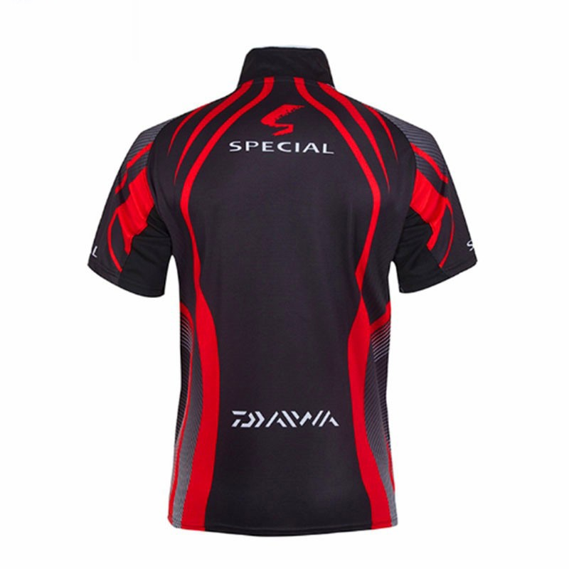 DAIWA DAWA Camisas Pesca Men Outdoors Clothes Fishing Clothing Anti-UV Special Wicking Breathable Short Sleeve Fishing Shirt