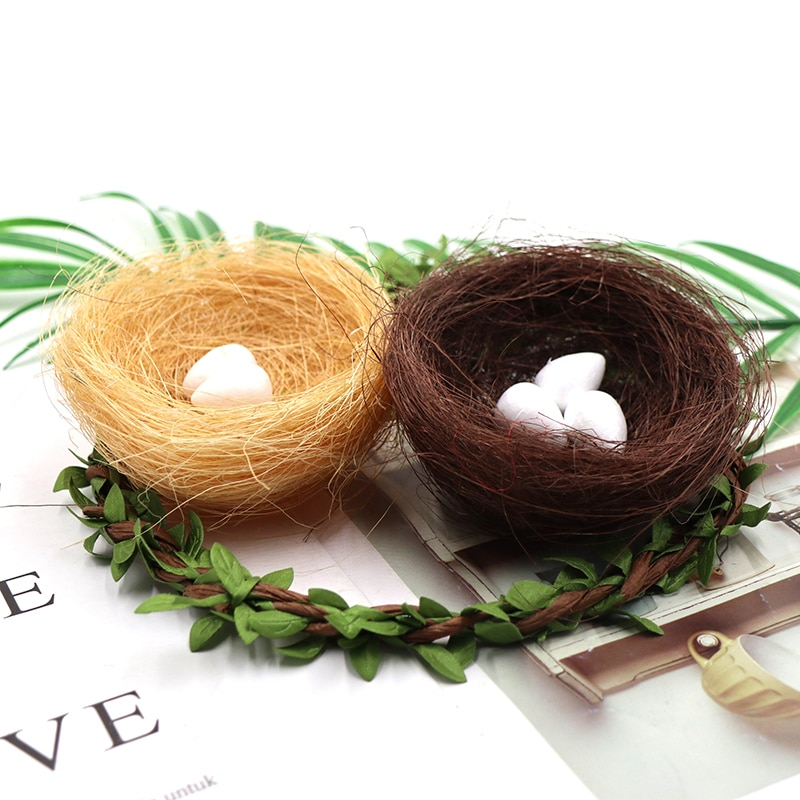 1/3/5Pcs Natural Material Bird Nest Shed Small Comfortable Natural Material Nesting House Pet Decor Accessories Random Color