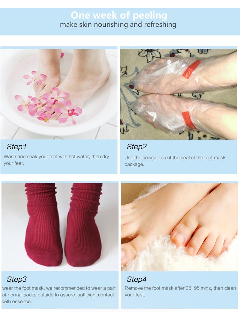 PUTIMI Exfoliating Foot Mask Whitening Dead Skin Remover Foot Peeling Mask for Pedicure Socks Spa Moisturizing Feet Care