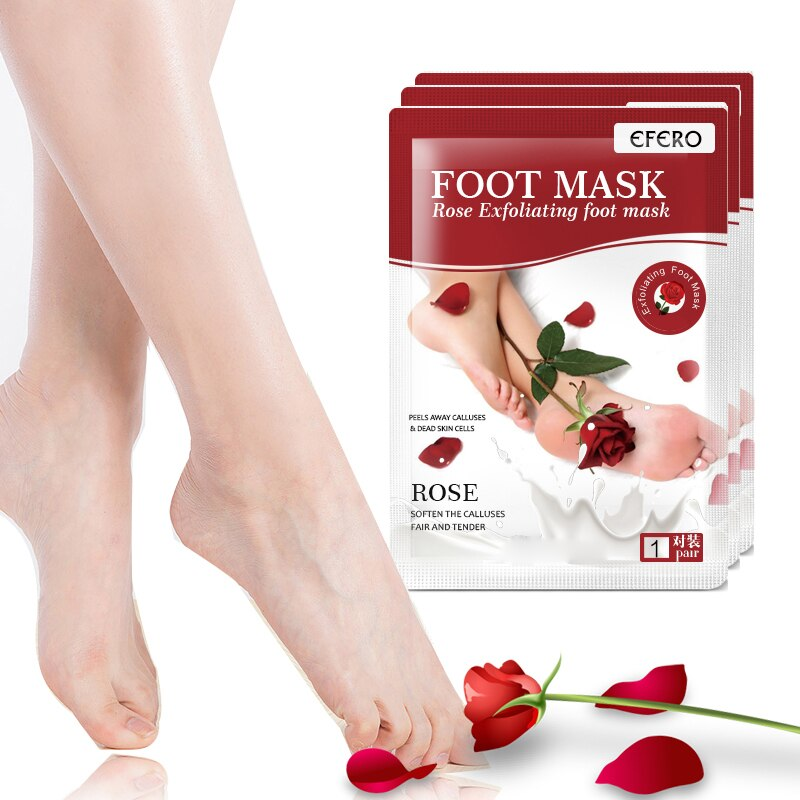 Peeling Foot Mask Exfoliating Foot Peel Mask Rose Feet Care For Heels Remove Dead Skin Moisturizing Whitening Pedicure Spa Socks