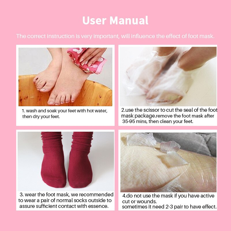 EFERO 1pair= 2PCS Feet Mask Exfoliating Foot Mask Pedicure detox pads Foot Spa Remove Dead Skin Cuticles Remove Foot Care TSLM1