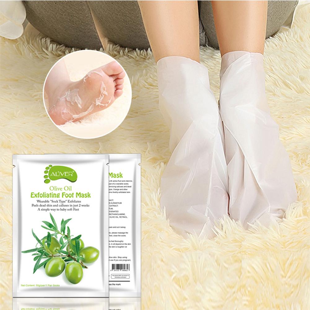 1Pair Baby Foot Peel Mask Pedicure Socks Exfoliating Moisturizing Socks for Pedicure Remove Dead Foot Spa Papaya Flavor TSLM2