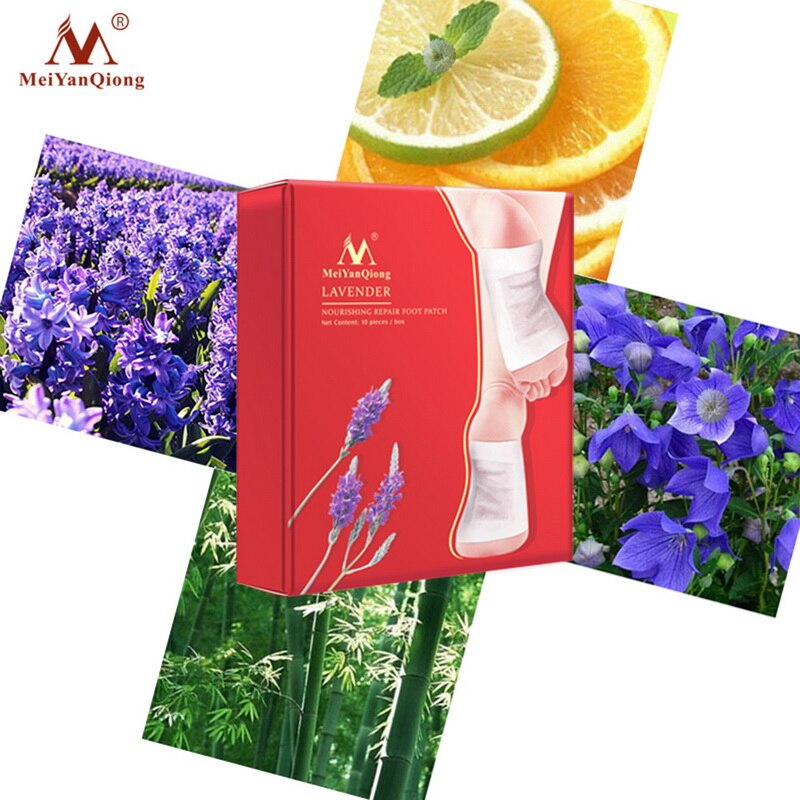 10pairs MeiYanQiong Foot Mask Nourishing Repair Foot Patch Lavender Detox Humidity Improve Sleep Quality Slimming Patch Foot Spa