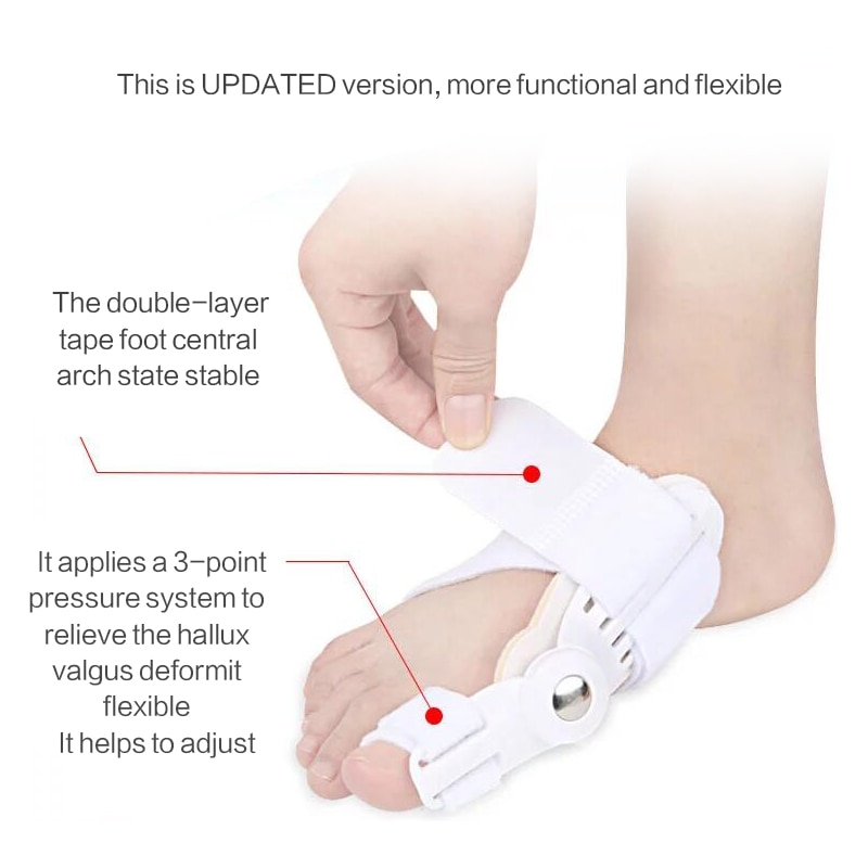 Toe Separator Bunion Corrector Orthopedic Pedicure Tool Stretcher Hallux Valgus Corrector Big Bone Thumb Adjuster Feet Care Tool