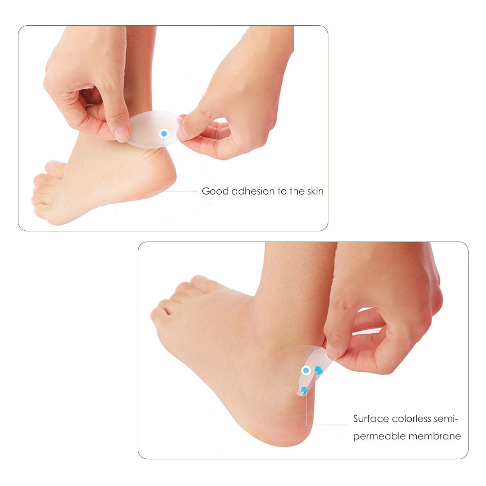 Foot Care Pedicure Heel Blister Bandages Adhesive Hydrocolloid Gel Heel Blister Plaster Cushions Prevents Rubbing Gel Guard Pads